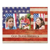 "Pied Piper Creative Rustic Flag ""God Bless America"" Canvas Wall Art"