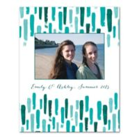 Teal Paint Strokes Digitally Printed Canvas Wall Art