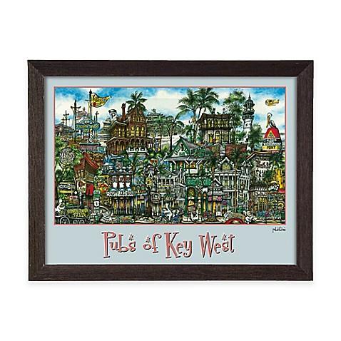 Pubs Of Key West Framed Wall Art