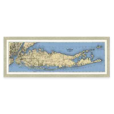 Map of Long Island Framed Wall Art