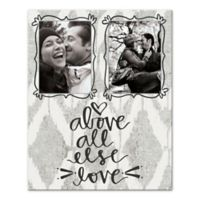 """""""Above All Else Love"""" Canvas Wall Art"""