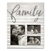 Stripes Family Photo Collage Canvas Wall Art