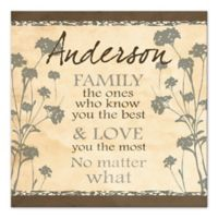 Family Knows You Best Canvas Wall Art