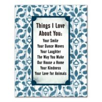 Reasons I Love You Canvas Wall Art