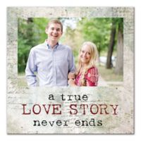 A True Love Story Never Ends 12-Inch x 12-Inch Wall Art