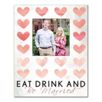 Eat Drink and Be Married Canvas Wall Art