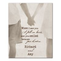 """""""When I Saw You I Fell In Love"""" Canvas Wall Art"""