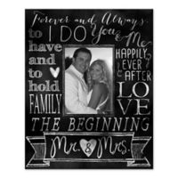 """I Do"" Wedding Words Collage Canvas Wall Art"