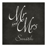 Mr. and Mrs. Chalkboard Script Canvas Wall Art