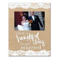 """Pied Piper Creative """"Beautiful Day to Get Married"""" Canvas Wall Art"""