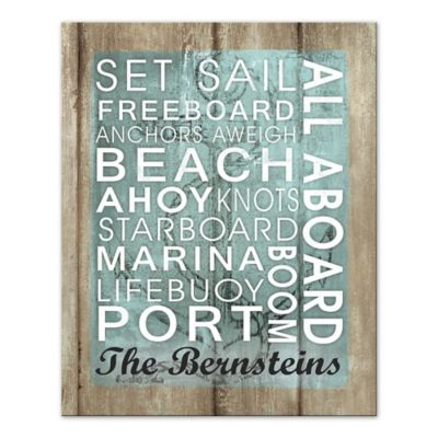 Sailing Words Sign Wall Art