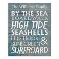 Pied Piper Creative By the Sea Family Sign Canvas Wall Art