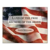 Pied Piper Creative Patriot Flag Land of the Free Because of the Brave Canvas Wall Art