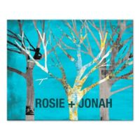 Pied Piper Creative Blue Trees Canvas Wall Art