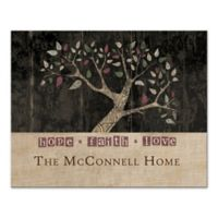 "Pied Piper Creative Family Tree ""Hope Faith Love"" Canvas Wall Art"