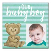 Baby Boy Bear Canvas Wall Art
