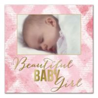 """Beautiful Baby Girl"" Ikat Wall Art"