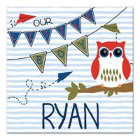 """Owl """"Our Little Boy"""" Wall Art"""