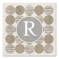 Geo Linen Circles Letter Canvas Wall Art