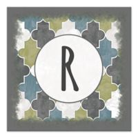 Cool Moroccan Geo Letter Canvas Wall Art