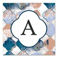 Royal Quatrefoil Letter Canvas Wall Art