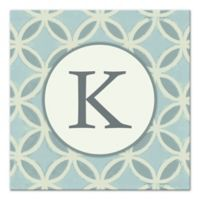Blue Curved Diamond Letter Canvas Wall Art