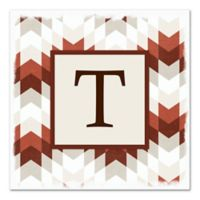 Red Geo Letter Canvas Wall Art