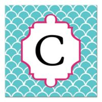 Blue Juvie Scales Letter Canvas Wall Art