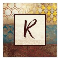Big World Patterns Letter Canvas Wall Art