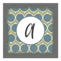 Cool Circle Geo Monogram Letter Canvas Wall Art