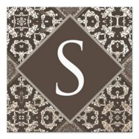 Dark Taupe Letter Canvas Wall Art