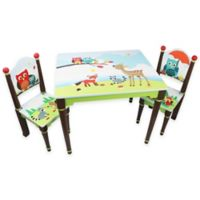 Teamson Fantasy Fields Table and 2 Chair Set in Owl & Friends