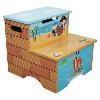 Teamson Fantasy Fields Pirate Island Kids Step Stool  sc 1 st  Bed Bath u0026 Beyond : wooden stool for kids - islam-shia.org