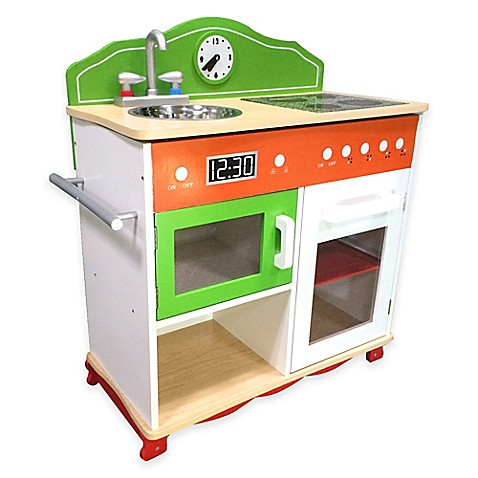 Teamson kids electrical stove play kitchen set buybuy baby for Kids kitchen set sale