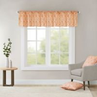 Madison Park Delray Printed Diamond Valance in Orange