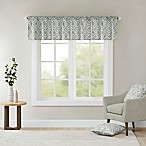 Madison Park Delray Printed Diamond Valance in Grey