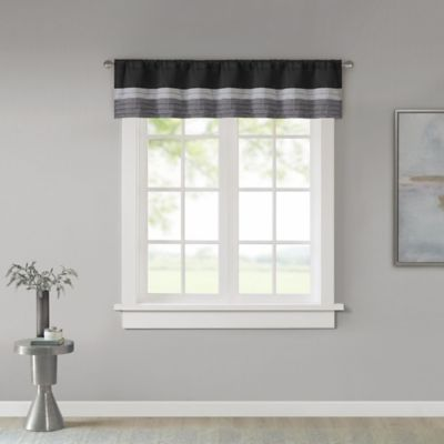 madison park amherst window valance in black