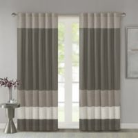 Madison Park Amherst 84-Inch Rod Pocket/Back Tab Window Curtain Panel in Natural