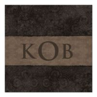 Golden Monogram Canvas Wall Art