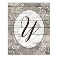 Happily Ever Greige Letter Canvas Wall Art