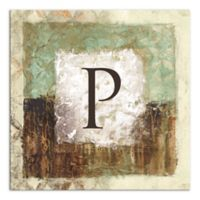 Earth Tone Abstract Letter Canvas Wall Art
