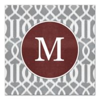 Imperial Trellis Letter Canvas Wall Art in Grey/White