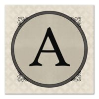 Circle Scroll Letter Canvas Wall Art