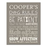 Doggie Rules Canvas Wall Art