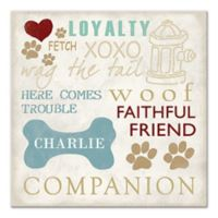 Dog Words Digitally Printed Canvas Wall Art