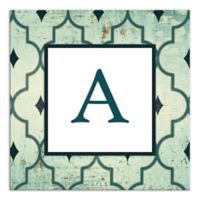 Sea Pattern Letter Canvas Wall Art