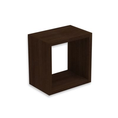 manhattan comfort sahara square floating decorative shelf in tobacco - Decorative Shelf