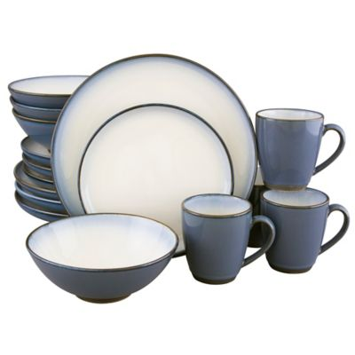 Sango® Concepts 16-Piece Dinnerware Set in Eggplant  sc 1 st  Bed Bath u0026 Beyond : sango blue dinnerware - pezcame.com