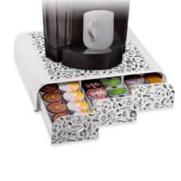 Mind Reader 36-Capacity Triple Drawer Coffee Pod in White
