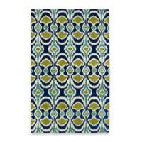 Kaleen Global Inspirations Leon Ikat 8-Foot x 10-Foot Area Rug in Blue